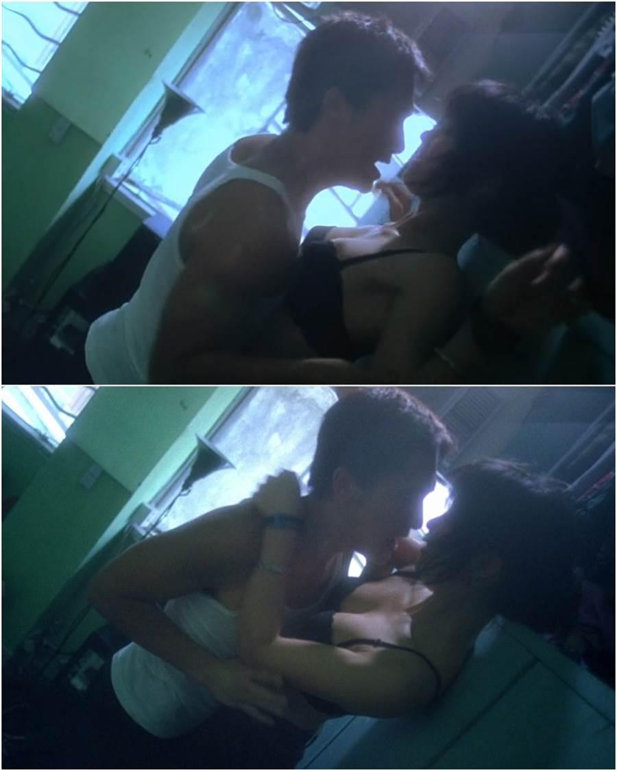 周嘉玲和梁朝偉在《重慶森林》有激情床戲。(電影截圖)