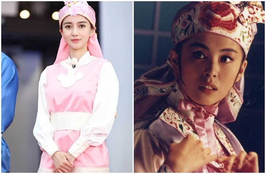 Baby在節目中模仿王祖賢經典電影《射鵰英雄傳之東成西就》古裝造型。(取自搜狐娛樂、本報系資料照)