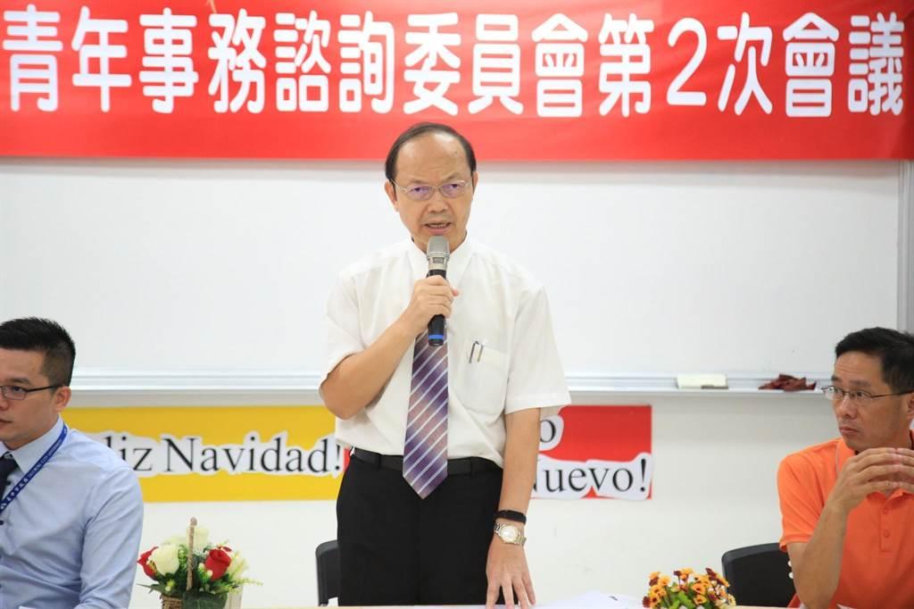教育局長楊振昇表示,希望透過青諮會增加青年參與公共事務的機會。(盧金足攝)