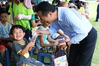 義竹鄉首辦育樂活動 孩子免費吃桑葚冰、玩巨無霸充氣滑水道