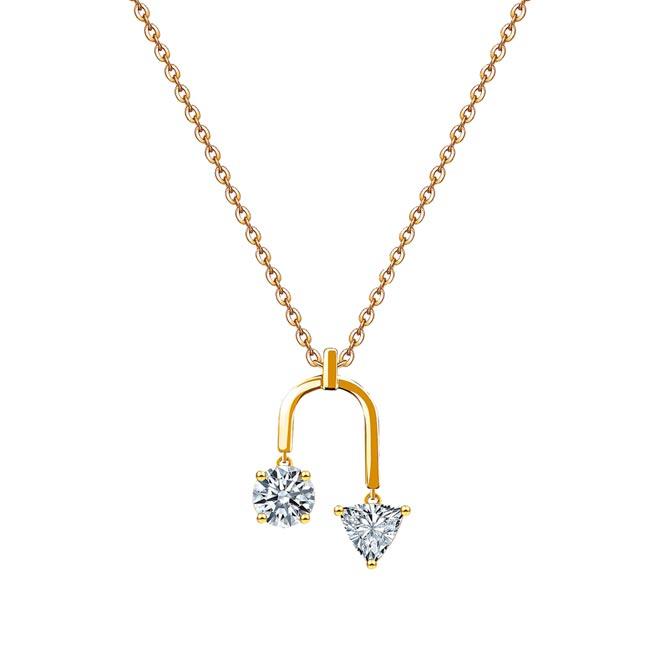未來鑽石Diamond Foundry軌跡項鍊。(JOY COLORi提供)