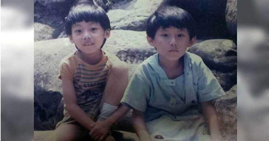 由於過去許多人常誤解血友病,兒時的魏震斌(右)因此沒什麼玩伴,圖為他和表弟合照。(圖/魏震斌提供)