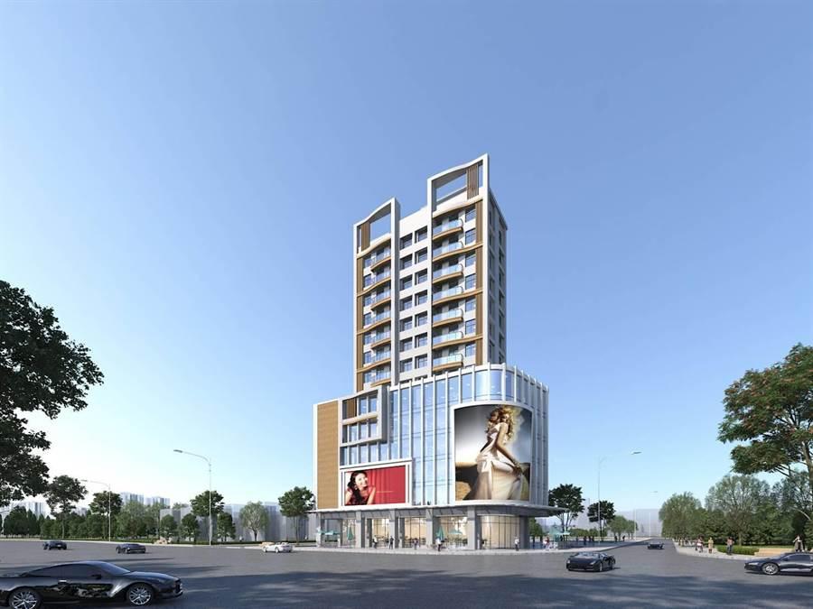 未來新大樓在民權路與光前路口的示意圖。(金門縣府提供)