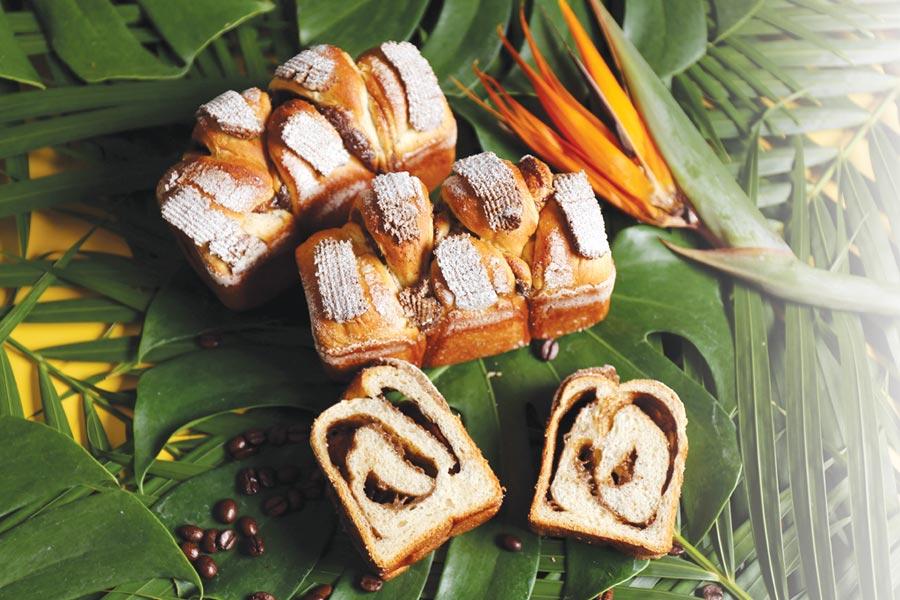 〈Kopi C吐司〉是以咖啡液做卡式達餡,為保持咖啡風味,材料不加蛋,而是搭配奶油、煉乳、奶水等打出柔滑化口質感。圖/吳寶春(麥方)店