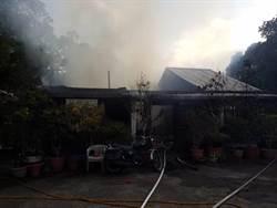 苗栗頭份濫坑平房傳火警 消防緊急布水線搶救