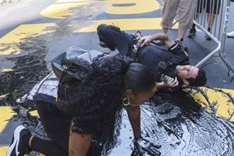 川普紐約家門口的挺黑人標記 10天內3度遭破壞