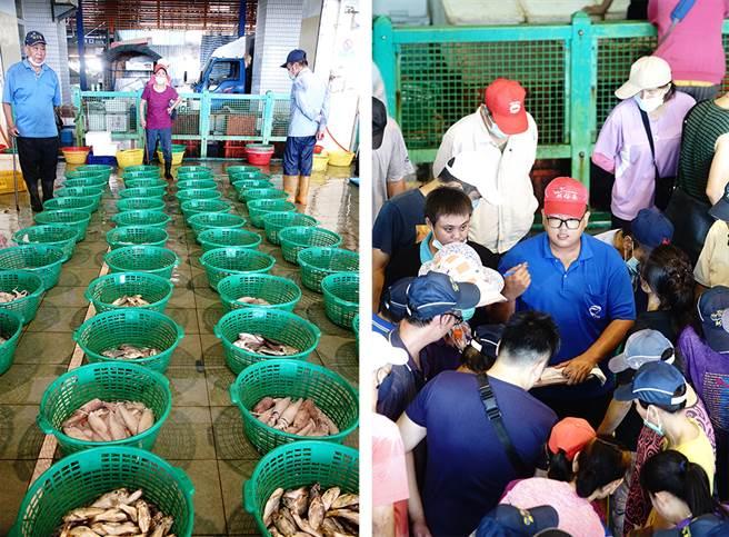 「糶手」是魚市場拍賣最重要的靈魂人物。(攝影/曾信耀)
