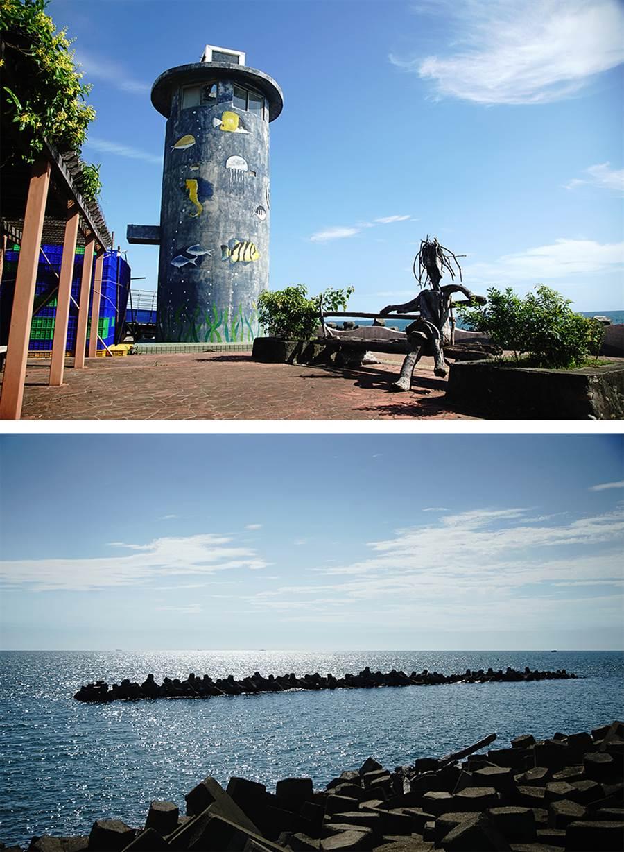 來到赤崁海堤步道散步看海,這裡是舊部落私房海景秘境。(攝影/曾信耀)