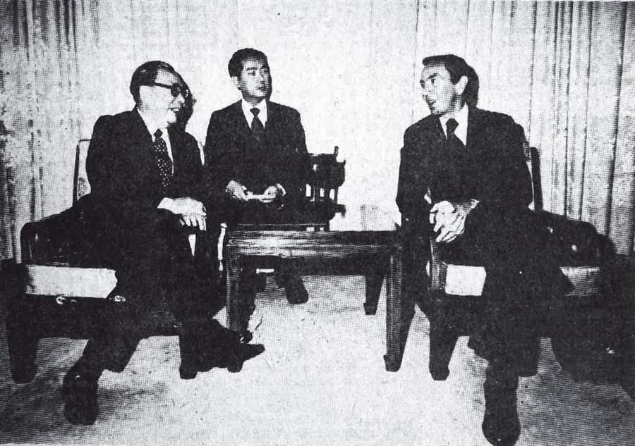 1978年12月蔣經國總統在總統府接見美國代表團克里斯多福副國務卿。(圖/本報資料照片)