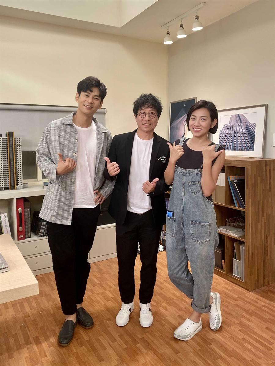蔣三省日前與演員楊子儀和米可白相見歡。JMS蔣三省音樂公司提供