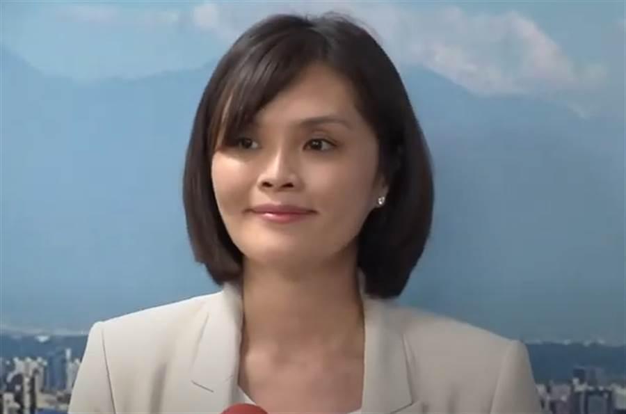 國民黨候選人李眉蓁。(取自中時點子報直播)