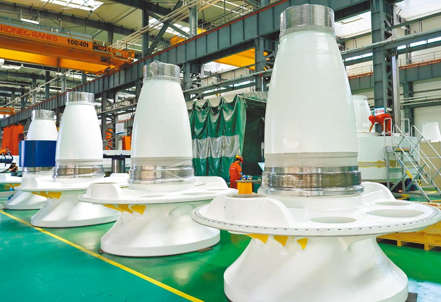 大陸張家口經濟開發區打造可再生能源高端裝備製造產業集群,近年成果亮眼。圖/新華社