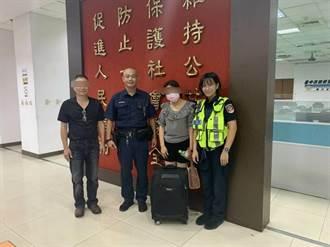 民眾返台遺失行李 中市警熱心找小黃速尋回