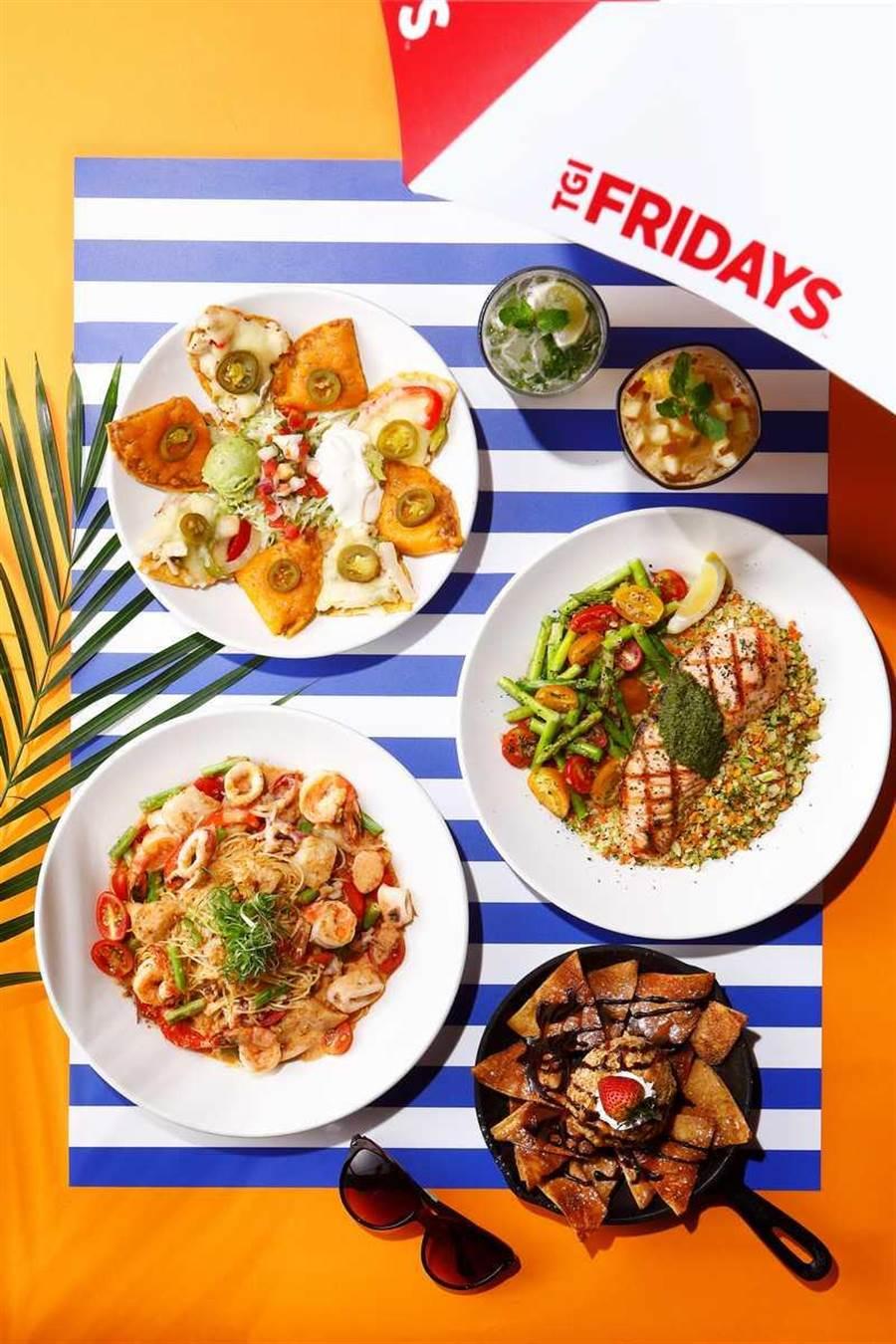 結合特色的「蔬菜米」與多國料理手法,讓「吃夏趣」夏季料理既輕盈又開胃。(圖片提供/TGI FRIDAYS)