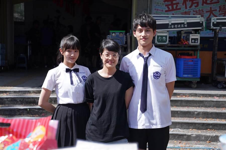 王净、范少勋、导演谢沛如出席《比悲伤》影集开镜。(好好看文创/满满额娱乐提供)