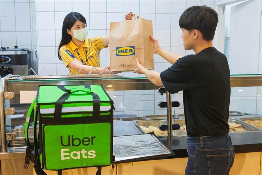(Uber Eats攜手IKEA,首波上架的新莊、敦北、新店三家分店。圖/IKEA提供)