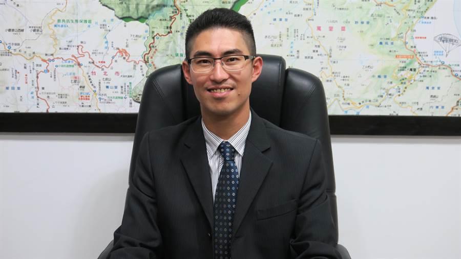 金山「型男」區長廖武輝擁有法律碩士與高考土木工程技師。(金山區公所提供/許家寧新北傳真)