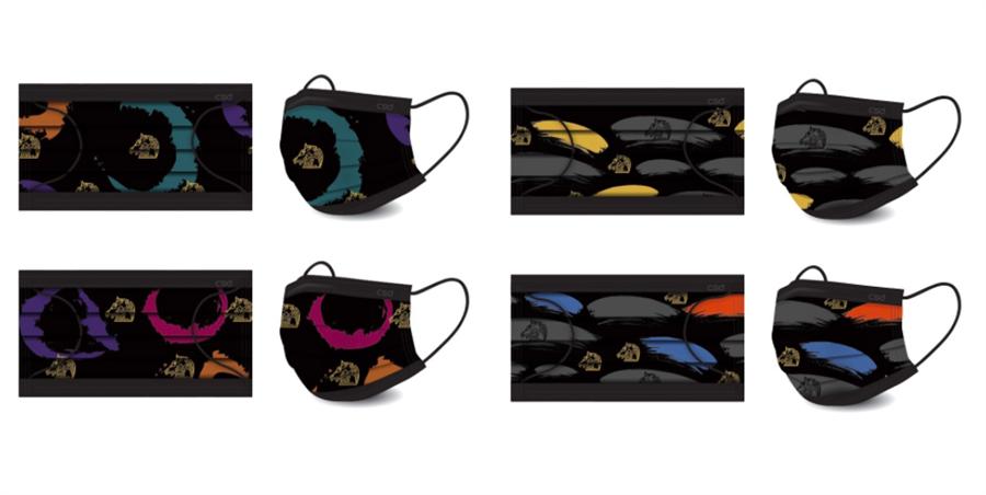 金馬執委會推出兩款限量的金馬聯名口罩。(金馬執委會提供)