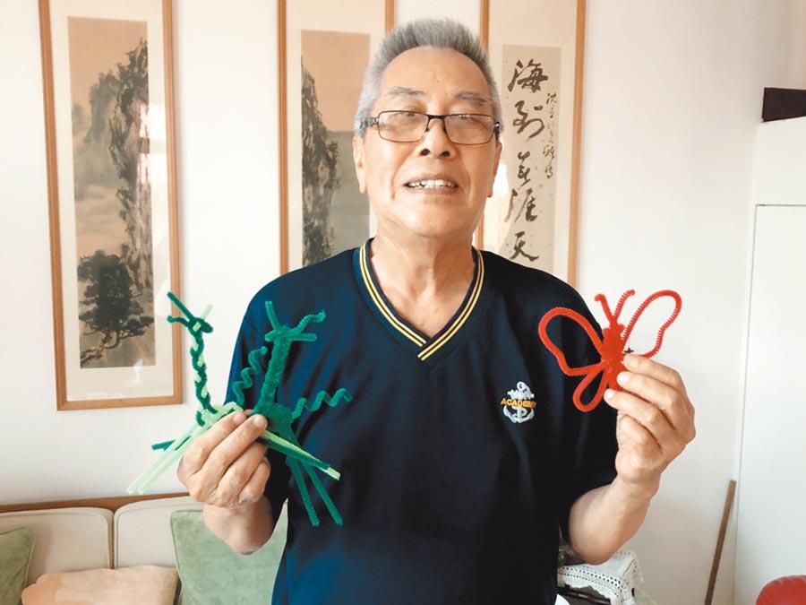 80歲的沈立,毛根手工藝技巧一流。(洪浩軒攝)