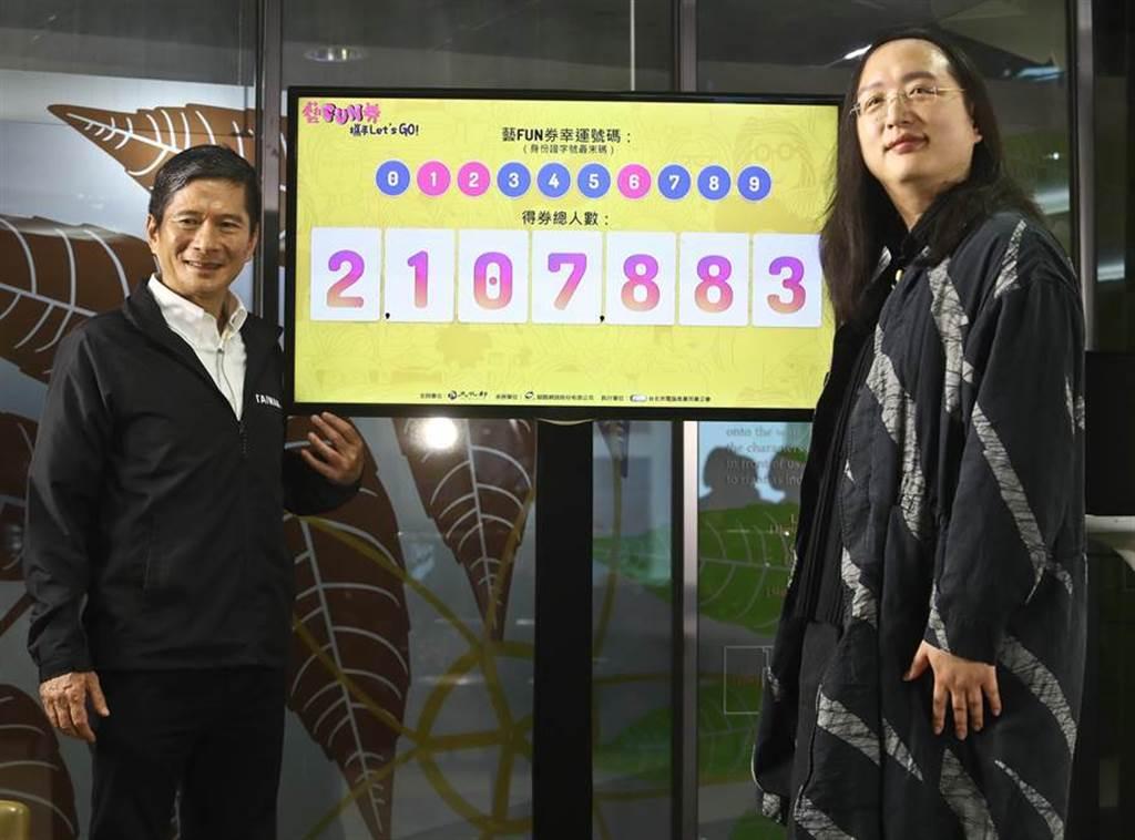 藝Fun券總計有210萬7883人得券,但身分證尾數1、2、6卻成為邊緣人。(劉宗龍攝)
