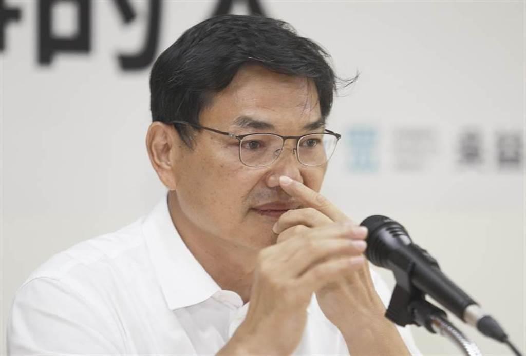 代表台灣民眾黨參加高雄市長補選的吳益政。(張鎧乙攝)