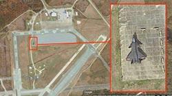 美軍基地 停了一架殲-20
