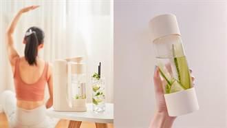 免插電超輕巧氣泡水機上市!野餐帶著連飲料也能打成氣泡飲