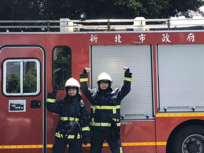 李懿與路雨希挑戰成為女消防員。(懿想天開提供)