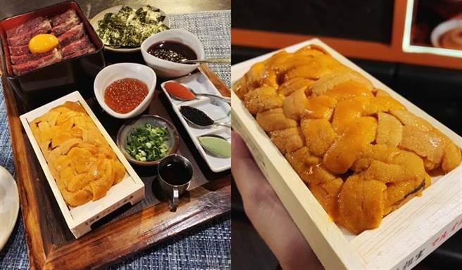 北海道三倍爆胆王丼NT599元,每店每天限量推出,需预约。(图/邱映慈摄影)