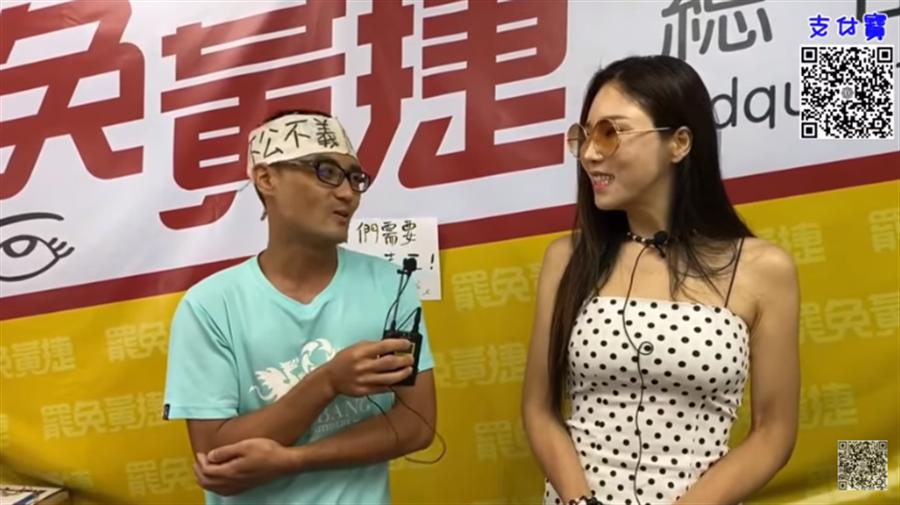 罷捷總部發言人徐尚賢(左),在「鈞鈞短片YouTube」透露最新進度。(圖/摘自鈞鈞短片YouTube)