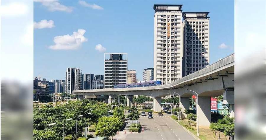 機捷沿線就屬青埔特區話題最多,周邊利多建設一一兌現,A17、A18站房價鍍金。(圖/業者提供)