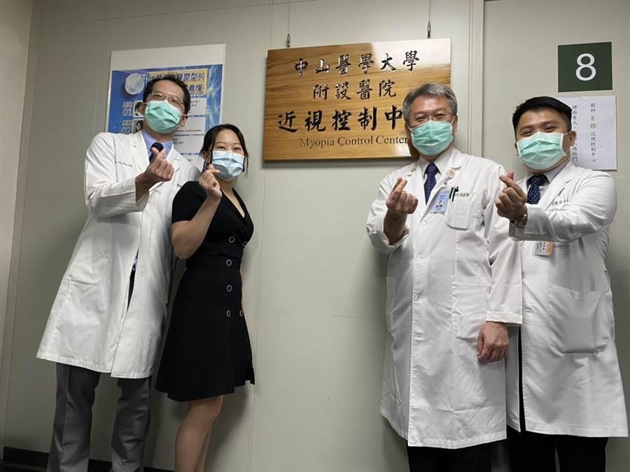 中山附醫成立近視控制中心,提供民眾近視防治諮詢、角膜塑型鏡片驗配。(馮惠宜攝)
