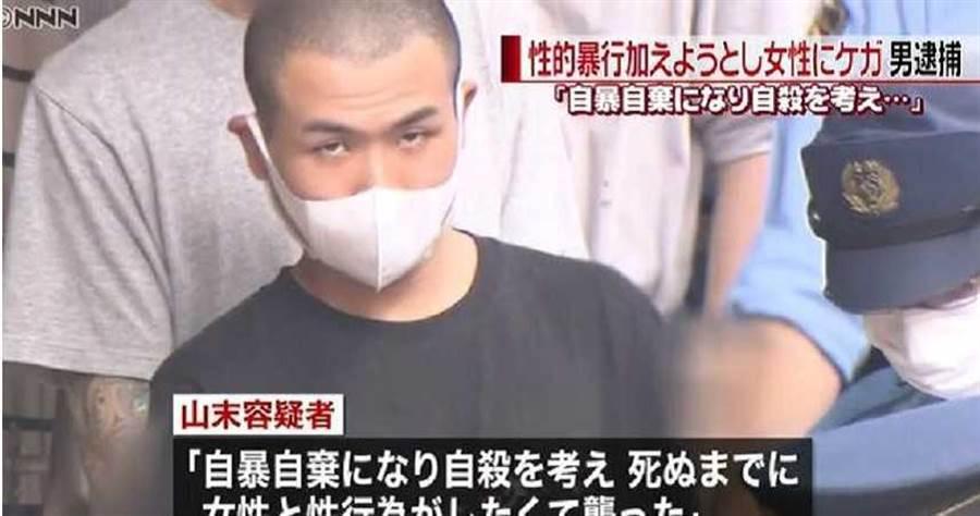 嫌犯山末優克突襲女室友暴力性侵。(圖/news24)