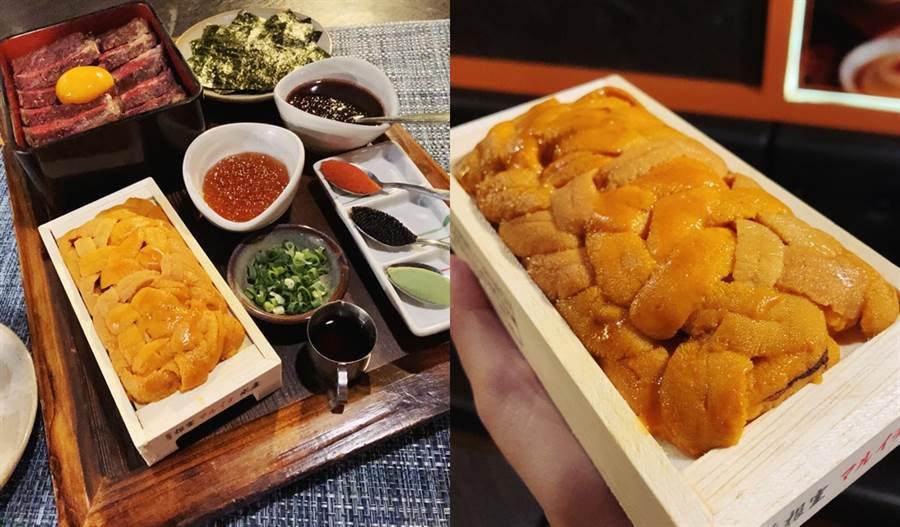 北海道三倍爆膽王丼NT599元,每店每天限量推出,需預約。(圖/邱映慈攝影)