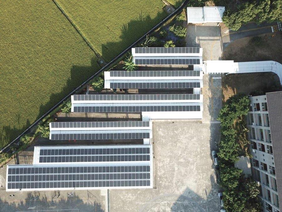 大同公司太陽能電場布局遍地開花,面積冠全台,助攻經濟部今夏全台不缺電達標。圖/業者提供