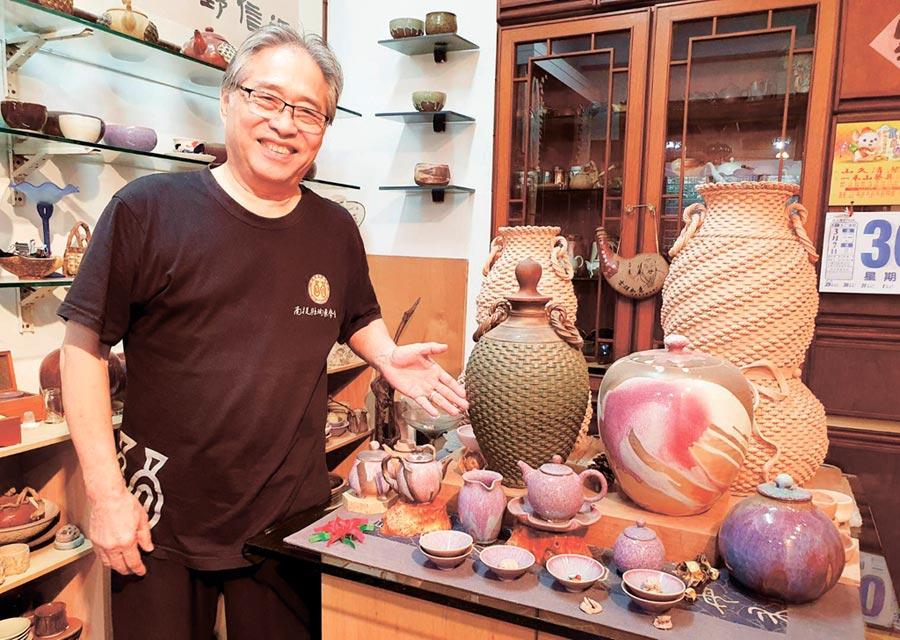 陶藝名家「明園陶舍」負責人路慶麟作品受收藏家喜愛,目前有開班授課,將技藝傳承並推廣。圖/明園陶舍提供