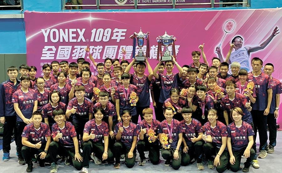 合庫締造全國羽球團體賽女子甲組20連霸、男子甲組14冠的輝煌成績。圖/合庫銀行提供
