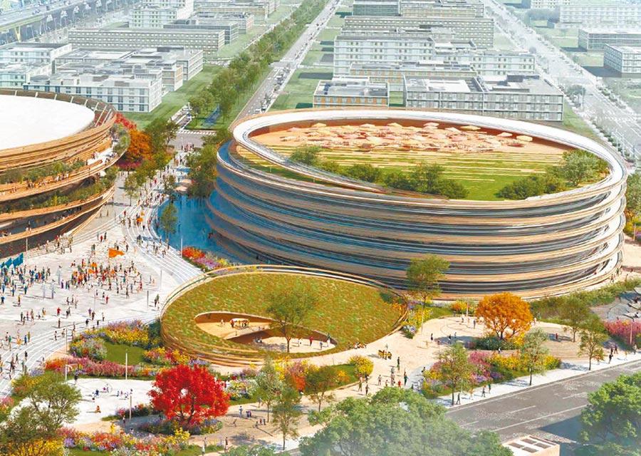 「台中巨蛋」第二階段評選,由日本知名建築師隈研吾(KENGO KUMA)組成的台日團隊作品獲選。(台中市政府都發局提供/陳淑芬台中傳真)