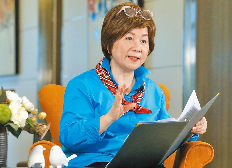 國民黨立委張育美接受本報專訪,針對新冠疫情對台灣影響等,發表自身看法。(趙雙傑攝)