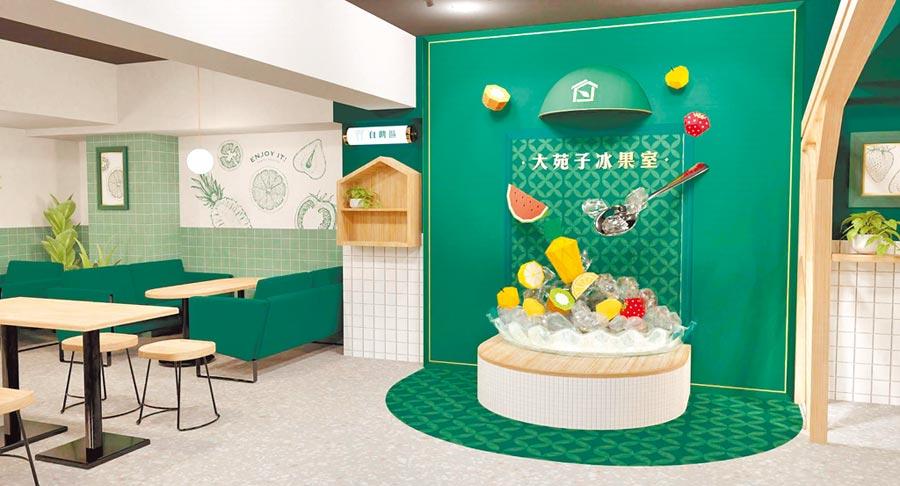 大苑子信義旗艦店將開幕,展現冰菓室風華。(大苑子提供)