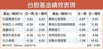 指數高檔整理 台股基金防震