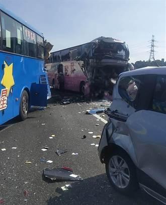 國三車禍女導遊遭夾亡 乘客回憶:急煞下1秒就撞上
