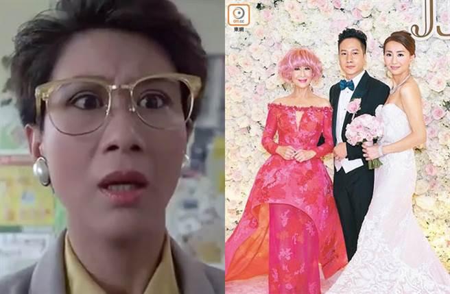 陳曼娜在《開心鬼撞鬼》飾演校長,最近女婿被追債,她澄清跟她無關。(圖/翻攝自騰訊視頻;取自《on.cc東網》)