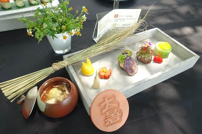 生態廚師端出永續創意料理,色香味俱全,令人食指大動。(許素惠攝)