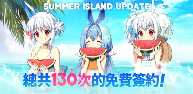 「Summer Island」活動開跑 130次免費簽約等你拿!(圖片來源/ NEOWIZ提供)