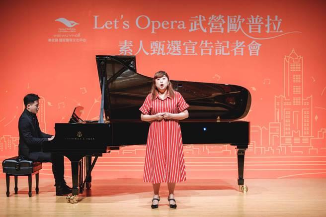 女高音林慈音表示,演唱時氣息的分配、咬字和共鳴,都是需要注意的點。(衛武營國家藝術文化中心提供)
