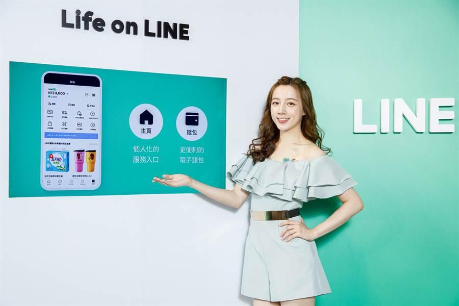 LINE主頁與錢包頁面全新升級,個人化體驗升級。(摘自LINE Blog)