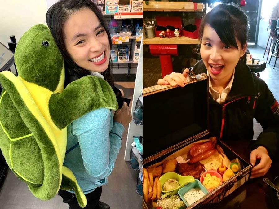 黃綉秝平時最愛和朋友四處旅遊、吃美食,享受精彩人生。