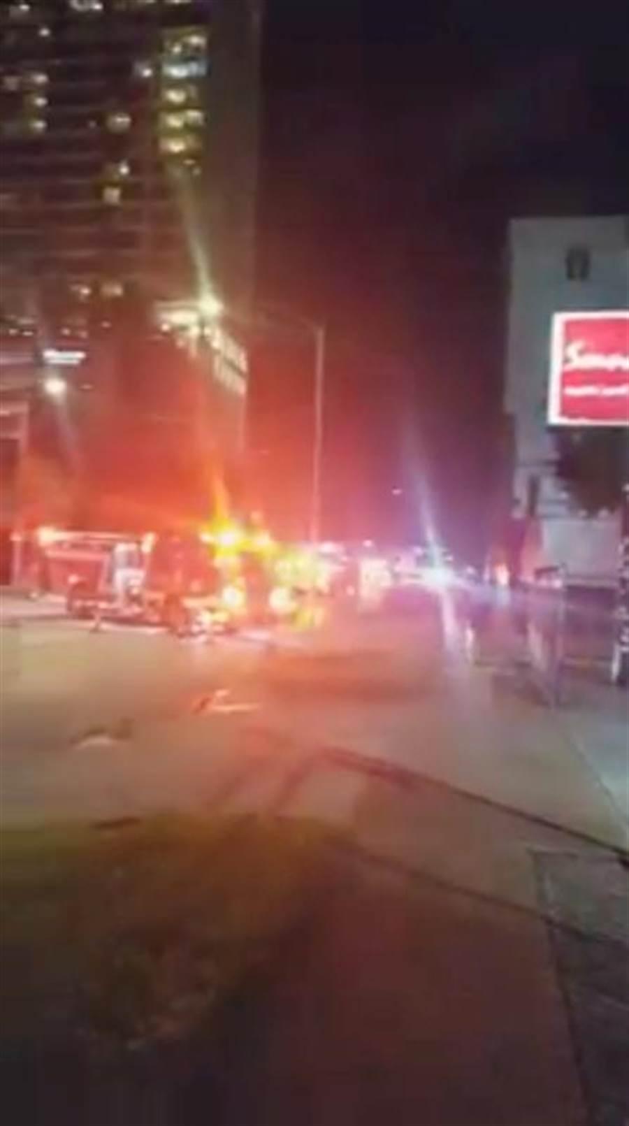 大陸駐美國休士頓的領事館,21日晚間發生火警。(路透)