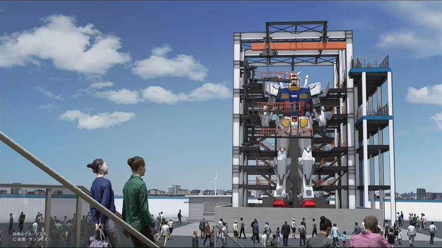 萬代公司希望,在今年能完成巨型可動「鋼彈」機器人。(圖/萬代)